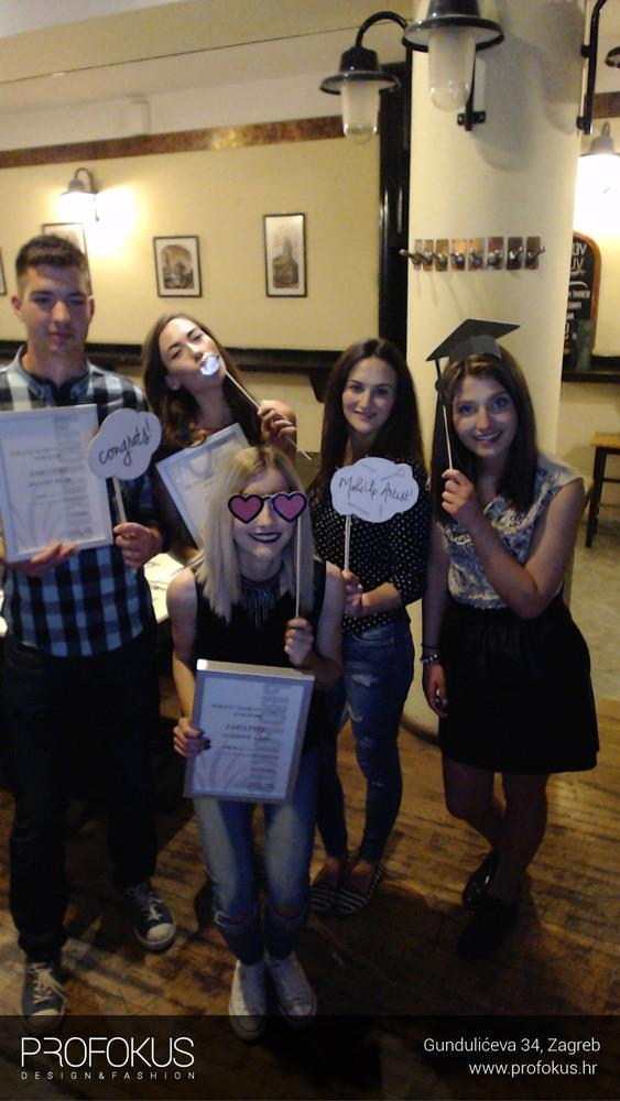 Dodjela diploma - Vizažisti - Učilište Profokus