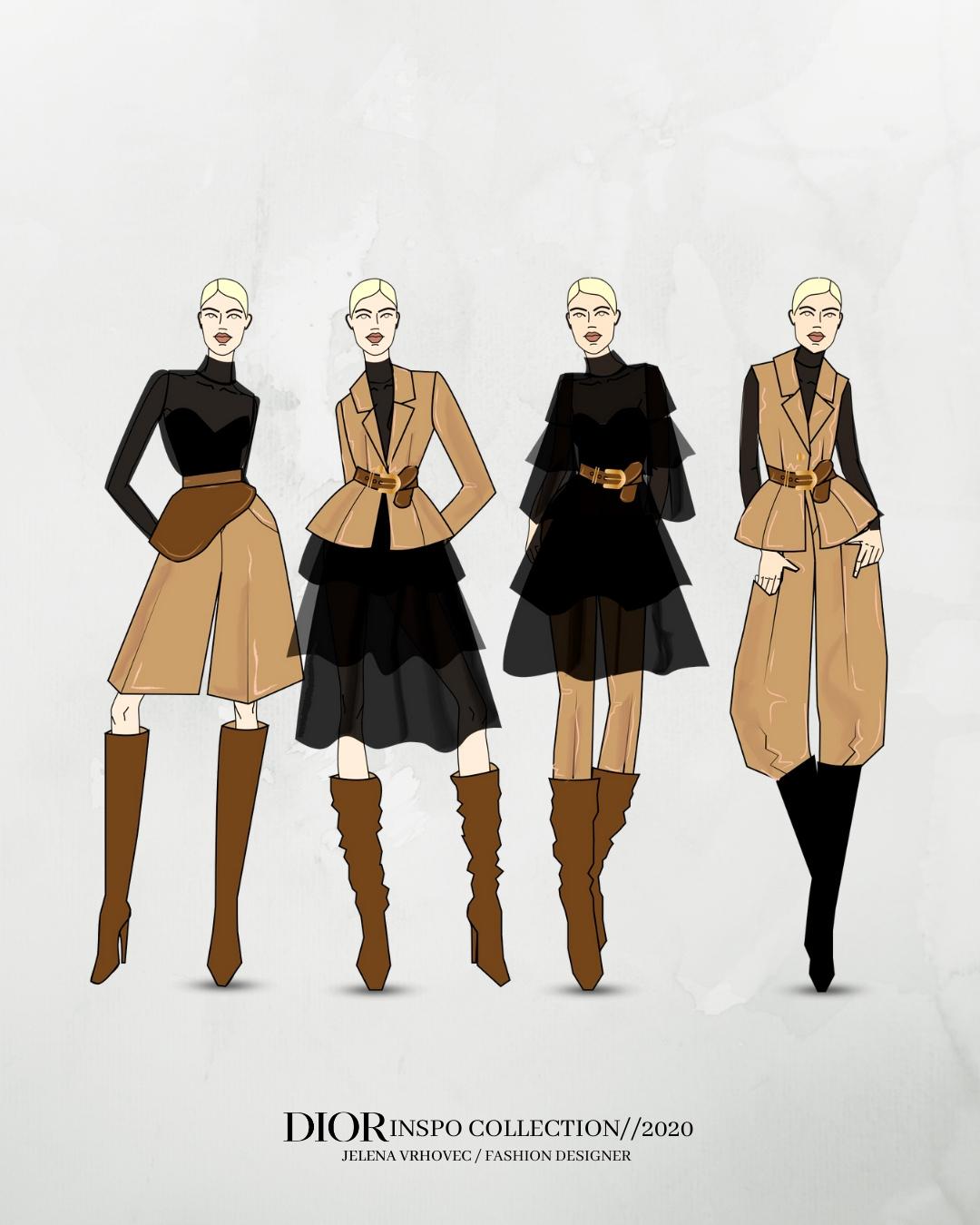 Jelena Vrhovec - modne vježbe: Dior - Učilište Profokus