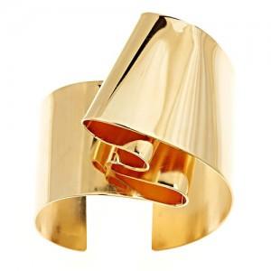 Oblik Atelier jewelry double folded cuff bracelet